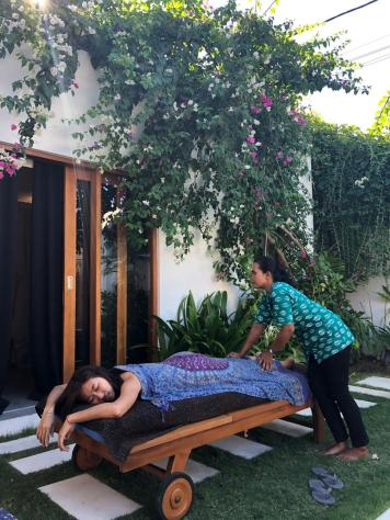 Pampering session at the villa by massage masseuse